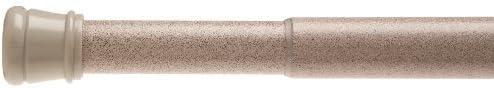 B002QUYLJS Carnation Home Fashions Adjustable 41-to-72-Inch Steel Shower Curtain Tension Rod, Antique White 31vK6fbz-vL