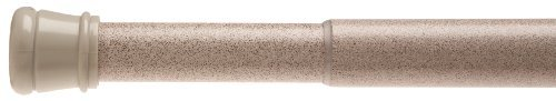Carnation Home Fashions Adjustable 41-to-72-Inch Steel Shower Curtain Tension Rod, Bronze
