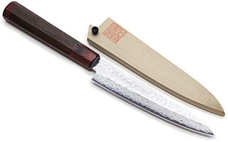 Yoshihiro Nsw capas 46 martillado acero de Damasco japonés ...