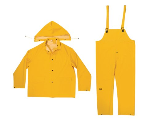 CLC Custom Leathercraft Rain Wear R101L  .35MM 3-Piece Rain Suit Yellow - Large