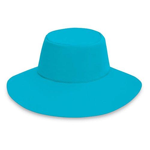Wallaroo Womens Aqua Hat Sun Hat - UPF 50+ - Packs Flat! Turquoise