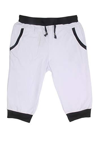 (SoEnvy Men's Casual Harem Training Jogger Sport Short Baggy Pants (XXX-Large, White))