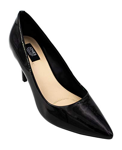 Jones New York Women's Darcy Dress Pumps, Black Smooth Patent, 7.5 M