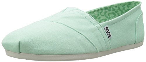 BOBS from Skechers Women's Plush Peace and Love Flat, Mint, 10 M US