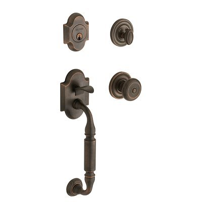 - Baldwin 85305.402.FD Canterbury Sectional Trim Full Dummy Handleset, Distressed Oil Rubbed Bronze