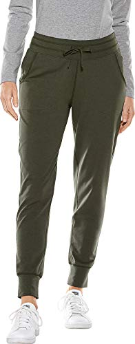 (Coolibar UPF 50+ Women's Weekend Pants - Sun Protective (X-Small- Deep Olive))