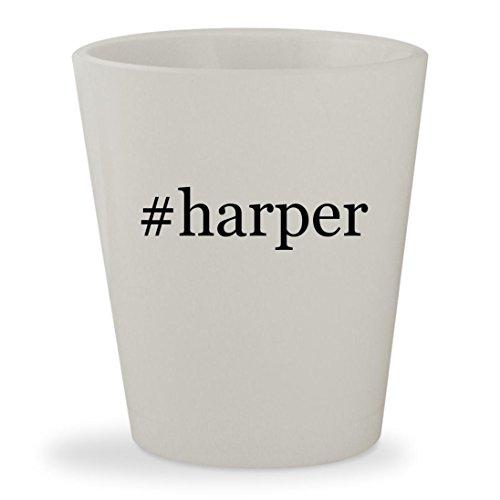 #harper - White Hashtag Ceramic 1.5oz Shot Glass