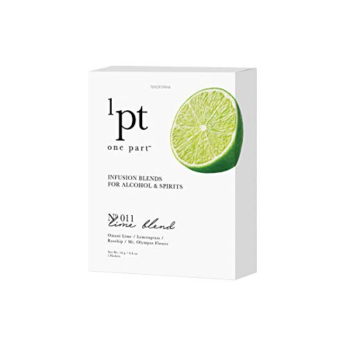 Teroforma 1pt LIME Infusion Blend for Alcohol & Spirits – Flavor Infuser Packets for Home Infusion (Single Pack) (Infusion Rum)