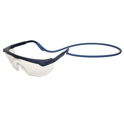 Metal Detectable Food Safety Silicone Glasses String Blue Pack of 25