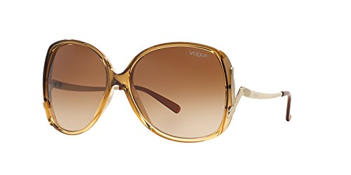 b8561138c7 Vogue Eyewear Womens Sunglasses (VO2638S) Gold Brown Plastic -  Non-Polarized - 60mm - Buy Online in KSA. Apparel products in Saudi Arabia.  See Prices ...