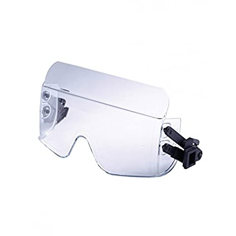 Casco de protección iris2 Casco con gafas máscara de color blanco