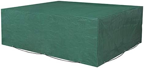 SONGMICS Funda Protectora para Muebles de jardín, 242 x 162 x 100 cm, para Mesas y Sillas de Patio, Cubierta Protectora Exterior, Impermeable, Rectangular,Verde GFC96L: Amazon.es: Hogar