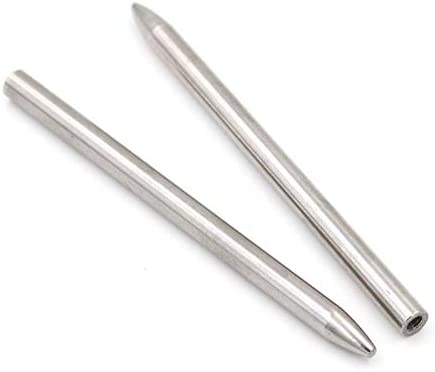 Needles for Leather Lacing Weaving Stiching Outdoor Smoothing Tool Silver ERIUAES 2PC Stainless Steel 550 Paracord FID