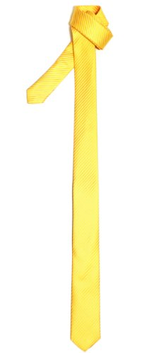 Retreez Skinny Tie with Stripe Textured - Bright Yellow
