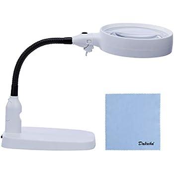 Amazon Com Delixike Large 10x Magnifying Lamp Folding
