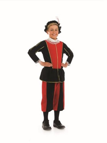 [Tudor Boys Childs Fancy Dress Costume - XL 148cms] (Childrens Fancy Dress Costumes Uk)