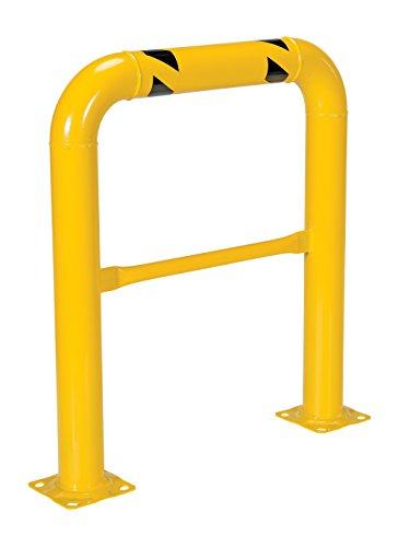 Vestil HPRO-36-42-4 Yellow Powder Coat High Profile Machinery Guard, Welded Steel, 4-1/2