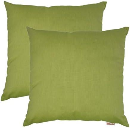 Olivia Quido Sunbrella Spectrum Kiwi 20-inch 2-Pack Outdoor Pillow