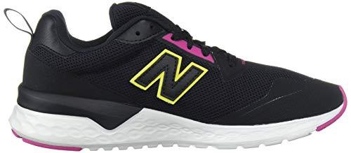 New Balance Women's Fresh Foam 515 Sport V2 Sneaker, Black/Carnival/Sulphur Yellow, 5 M US