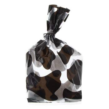 Black and White Cow Print Treat Bags Cello Party Supplies 20 Bags ()