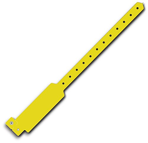 Wideface Vinyl Wristbands 500Ct Neon Yellow Glow