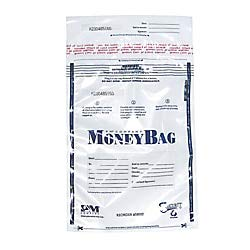 PM Company SecurIT Tamper Evident Plastic Disposable Deposit Bags, Clear with Printed Content Area, 9 x 12 Inches, 100/Pack (58002)