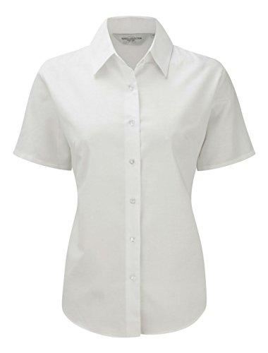 Russell Collection - Camisas - con botones - Manga Corta - para mujer blanco