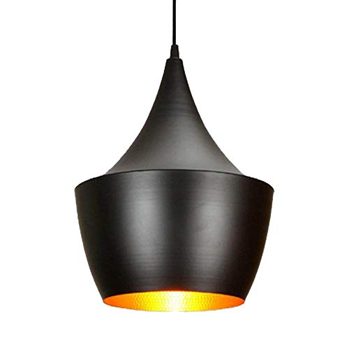 best website 86711 d9a9f Citra E26/E27 Single Head Vintage Black Metal Big Hanging Light Pendant  Ceiling Light Lamp (No Bulbs Provided)