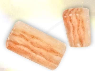 Set of Two Authentic 4'' X 8'' X 2'' Foot Detox Himalayan Salt Blocks - Ionic Foot Plates by Black Tai Salt Co.