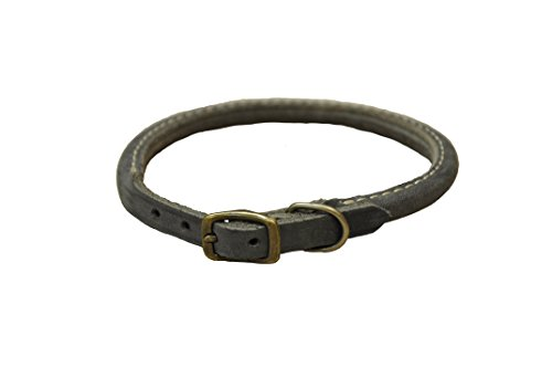 (Coastal Pet Products Circle T Rustic Leather Round Dog Collar, 3/8