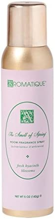 Aromatique The Smell of Spring Fragrant Aerosol Room Spray in 5 oz Gold Bottle for Home Decor and Gift