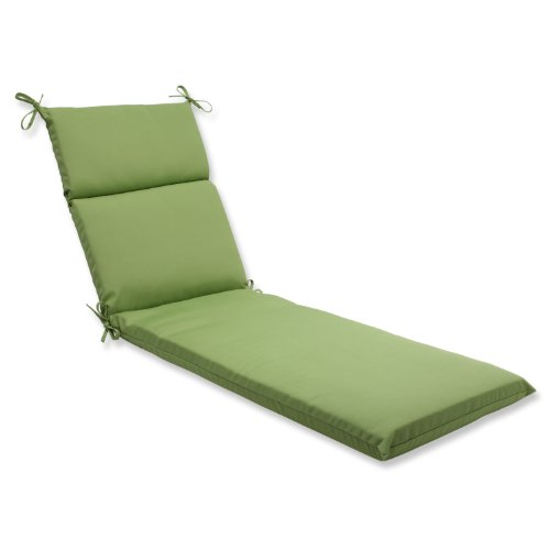Pillow Perfect Indoor/Outdoor Chaise Lounge Cushion with Sunbrella Canvas Ginkgo Fabric, 72.5 in. L X 21 in. W X 3 in. D