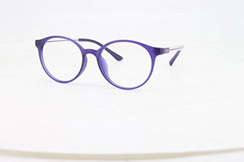 9ec8bd499d6 EyeBuyExpress Bifocal Reading Glasses Mens Womens Purple Round Horn Rimmed  Classic Anti Glare Quality +3.00