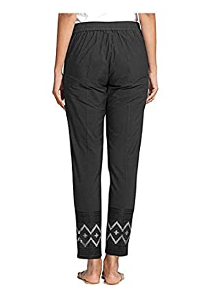 NAARI Women 100% Cotton Embroidered Ankle Length Pants - Slim Fit - 2 Pockets