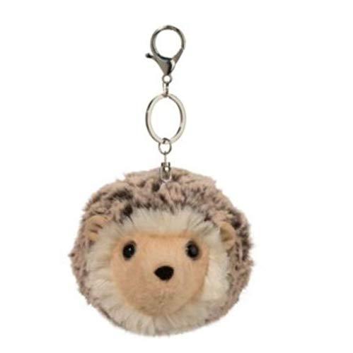 Plush 4 Inch Spunky Hedgehog Pom Plush Clip On Keychain ()