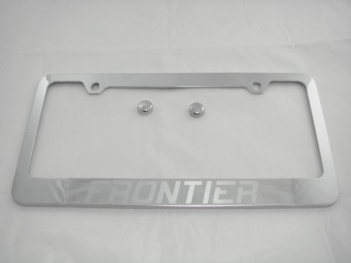 (Nissan Frontier Chrome License Plate Frame with Caps)