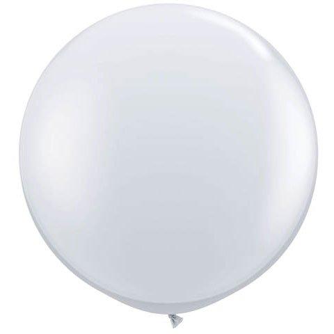Diamond Clear Jumbo Latex Balloons product image