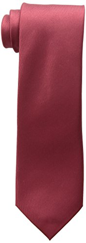 (Kenneth Cole REACTION Men's Darien Solid Tie, Burgundy, One Size )