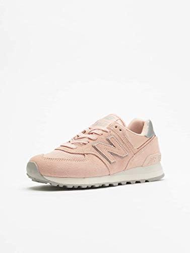sports shoes 17b6c 49b85 New Balance Women's 574 Classics- Sateen Tab Sneakers Pink ...