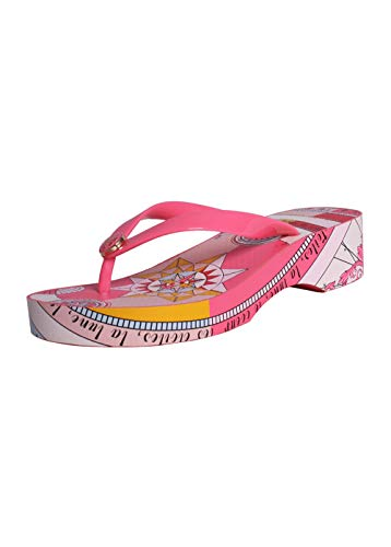 Tory Burch Women's Carved Out Wedge Flip Flop Pink Paradise