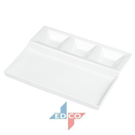 Edco Tish Bbq / Fondue Porcelain Serving Dish Appetiser Dish Bbq Platter (26X22X3Cm) New 2015