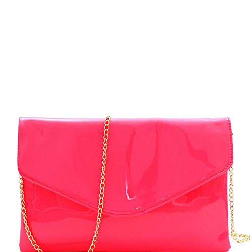 - Neon Patent Envelope Clutch