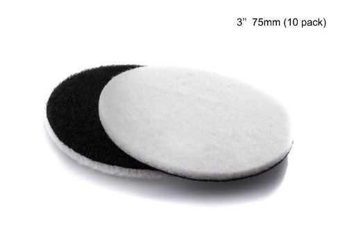 GP11007 Felt Polishing Pad Set for Polishing Glass, Plastic, Metal, Marble / Diameter 3 inch / Pack of 10 Pads