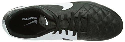 Schwarz Tiempo Nike Black White Herren Fußballschuhe FG Leather Genio UK 1T0U81qw