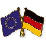 Yantec Freundschaftspin 5er Pack Europa Deutschland Pin Anstecknadel Doppelflaggenpin