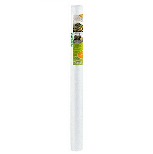 Verdemax 656030g/mq 1,6x 20m tessuto non tessuto protettivo Rotolo di rete, colore: bianco