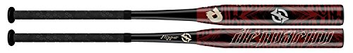 DeMarini 2015 Flipper Aftermath OG Slowpitch Bat, Black/Dark Red/Pale Gold, 34 inch/27 oz by DeMarini
