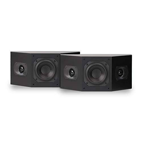 Aperionaudio Intimus 4BP Surround Speaker, Satellite Speaker, hometheater (Pair Matte Black)