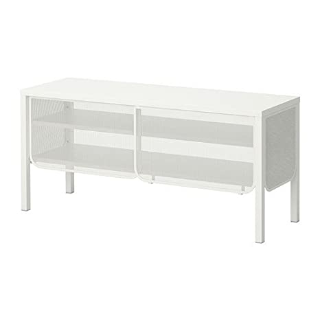 Amazon.com: IKEA NITTORP – banco de TV, blanco – 48 x 21.7 ...