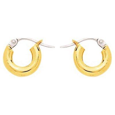 So Chic Bijoux © Boucles d'oreilles Femme Créoles Diamètre 6 mm Fil Rond 3 mm Or Jaune 750/000 (18 carats)